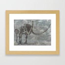 Half Tone Mammoth Framed Art Print
