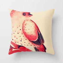 Branch Vintage Watercolor Spring Bird Throw Pillow
