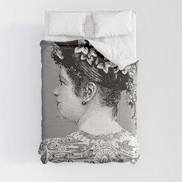 Tattooed Victorian Woman   Tattooed Woman   Vintage Tattoos   Victorian Tattoos   Victorian Gothic   Comforters