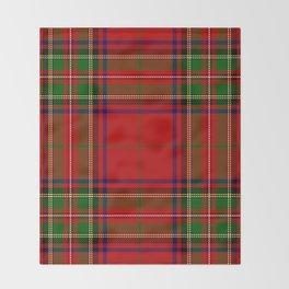 Red Tartan Plaid Throw Blanket