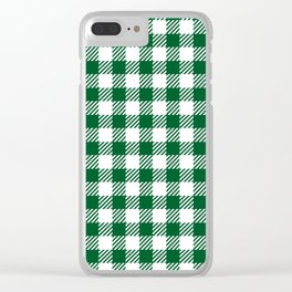 Green Vichy Clear iPhone Case