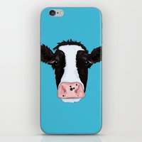 cow iPhone & iPod Skins featuring Cow by Compassion Collective