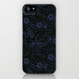 Abstract - kind of damasc french style wrapping paper - Deep Blue and blak iPhone Case