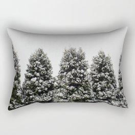 Arbor Vitae in Snow Rectangular Pillow