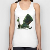 green arrow Tank Tops featuring Green Arrow by xDontStopMeNow