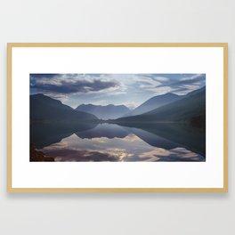 Mountain lake, Norway Framed Art Print