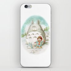 Winter トトロ iPhone Skin