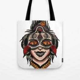 flip cat Tote Bag