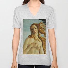 "Sandro Botticelli ""The Birth of Venus"" (detail) Unisex V-Neck"