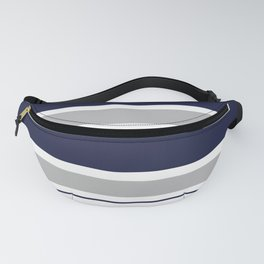 Navy Blue and Grey Stripe Fanny Pack