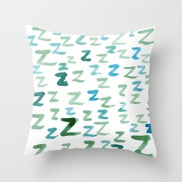 Painted Z Throw Pillow
