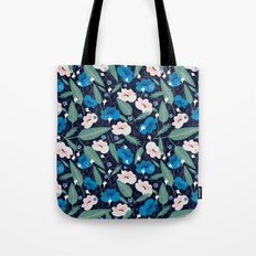 Blue Botanical Tote Bag