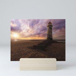 Sunset at the Lighthouse Mini Art Print