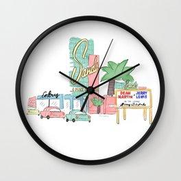 Las Vegas 1950 Wall Clock