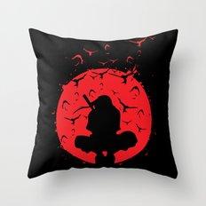 Silhouette Itachi Throw Pillow
