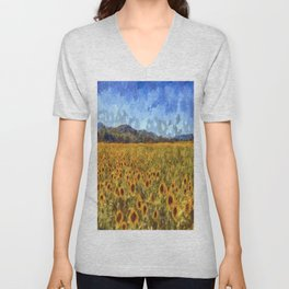 Vincent Van Gogh Sunflowers Unisex V-Neck