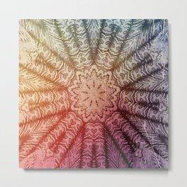 Epsilonmix Mandala 25 Shrouded New Colors Metal Print