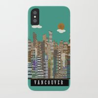 vancouver iPhone & iPod Cases featuring Vancouver skyline by bri.buckley