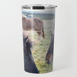 Icelandic Horses. Travel Mug