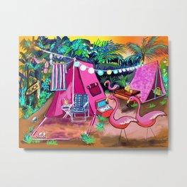 Camp PINK Metal Print