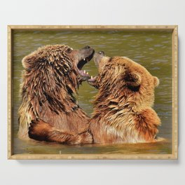 Brown Bears Serving Tray