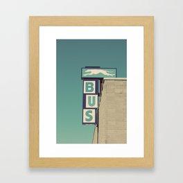 Greyhound Bus Sign Framed Art Print