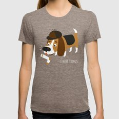 I Nose Things Tri-Coffee Womens Fitted Tee MEDIUM