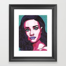 Lady Valentine Framed Art Print