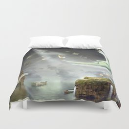 Night. Time of miracles and magic Duvet Cover