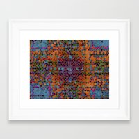 funky Framed Art Prints featuring funky by mari3000