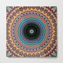 Recreational Maylanta Mandala 13 Metal Print