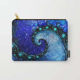 Beautiful Blue Nocturne of Scorpio Sapphire Spiral Carry-All Pouch