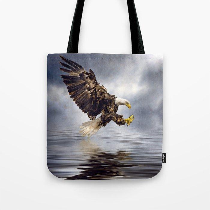 Bald Eagle swooping Tote Bag