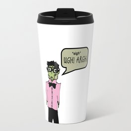 Hipster Frank Color Travel Mug