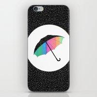 umbrella iPhone & iPod Skins featuring umbrella by Luna Portnoi