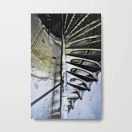 Lighthouse tower stairs Metal Print