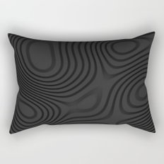 Organic Abstract 01 BLACK Rectangular Pillow