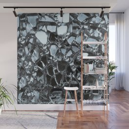 Dark Mirror and Glass Wall Mural