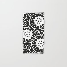 Black and White Swirl Pattern Hand & Bath Towel