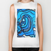 shell Biker Tanks featuring Shell by Abstract Jack95