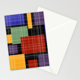 Multi-colored patchwork5 Stationery Cards