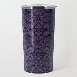 Dark Purple Delicate Flowers Travel Mug
