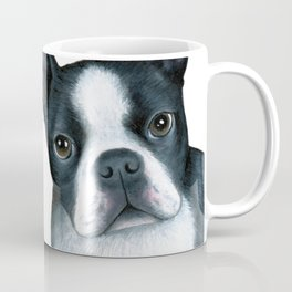 Dog 128 Boston Terrier Dogs black and white Coffee Mug
