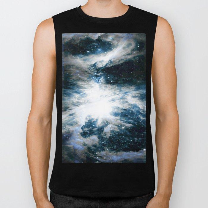Orion Nebula Blue & Gray Biker Tank