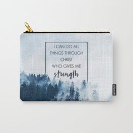 Forest Philippians 4:13 Carry-All Pouch