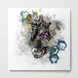 Blooming Skeleton v2 Metal Print