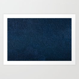 Navy fibrous texture abstract Art Print