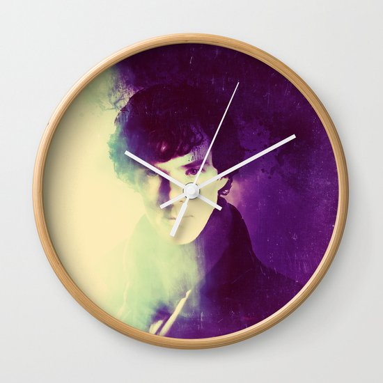 Amazing Sherlock Purple Vintage Variation Wall Clock By