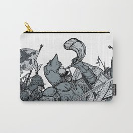 Saturday Knight Special STEEL BLUE / Vintage illustration redrawn and repurposed Carry-All Pouch