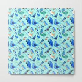 Blue Birds Metal Print